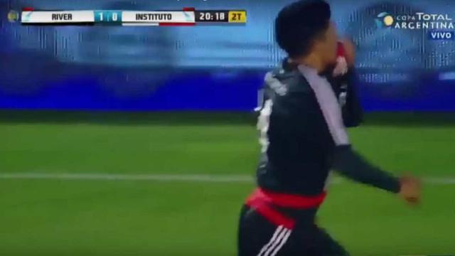 Enzo Pérez estreia-se a marcar pelo River... e que estreia