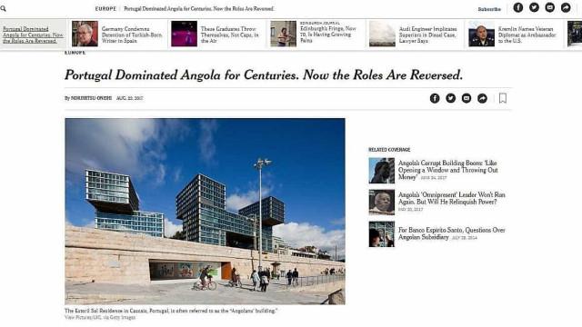 """New York Times: """"Portugal dominou Angola. Agora papéis estão invertidos"""""""