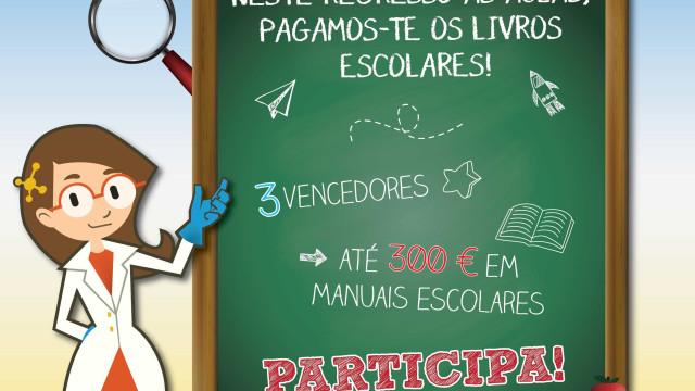 Science4You vai oferecer 300 euros em livros escolares a jovens sortudos