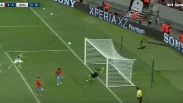 Battaglia fechou as contas na goleada leonina na Roménia