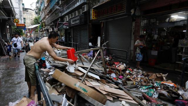 Número de vítimas do tufão Hato sobe para 16, oito das quais em Macau