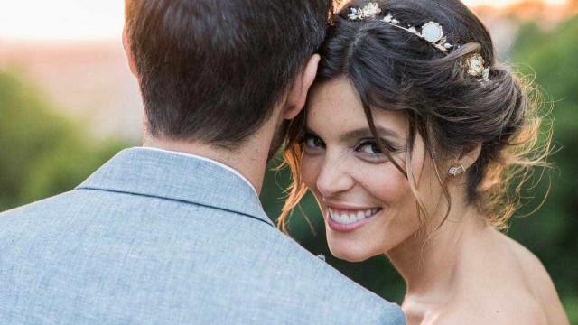Já viu o segundo vestido do casamento de Andreia Rodrigues?