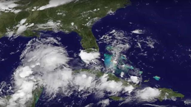 O momento em que se formou o furacão Harvey, que ameaça os EUA