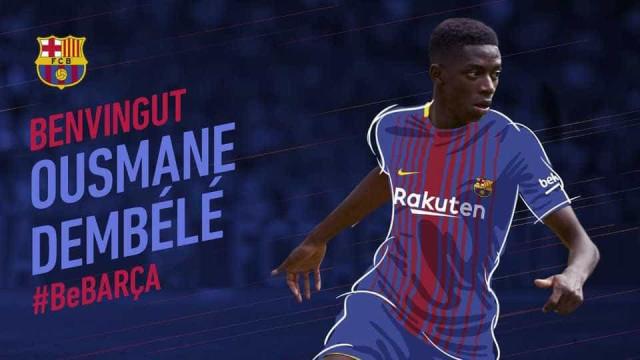 Oficial: Dembélé é do Barça e fica com cláusula de rescisão milionária