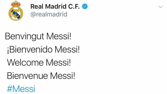 """""""Bem-vindo Messi"""", a frase que 'assustou' os adeptos do Barcelona"""