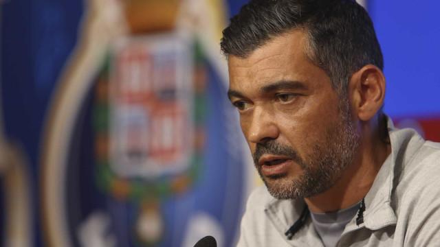 """Sérgio Conceição fala de """"palhaçada"""" em Paços: """"Não sou falso"""""""