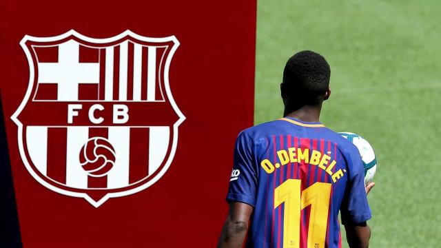 Apresentação de Dembélé deixou adeptos do Barça irritados