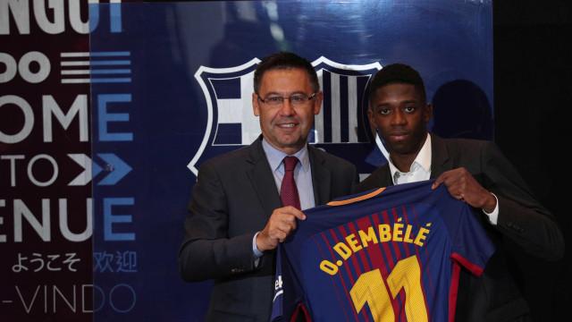 """O momento em que Dembélé percebeu que """"Messi é de outro mundo"""""""