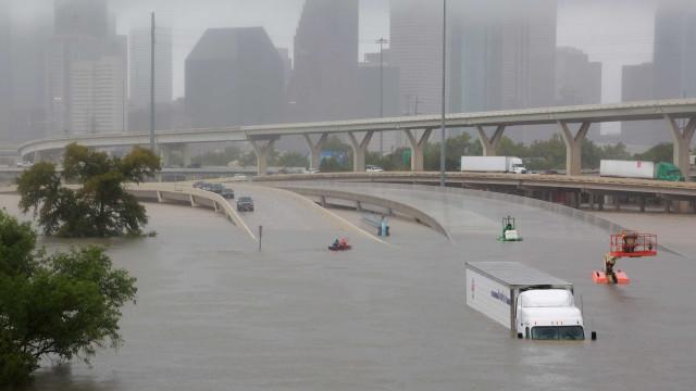 Assim ficou Houston após a passagem do furacão Harvey