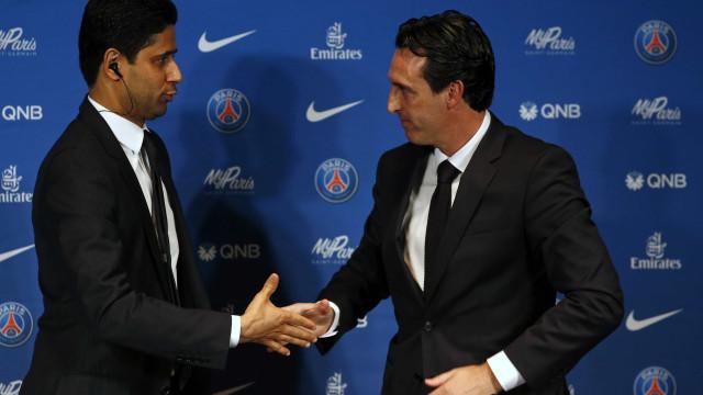 """Presidente do PSG avisa Emery: """"Estou muito desapontado"""""""
