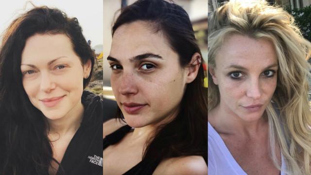 Estas famosas não têm problemas em partilhar fotos sem maquilhagem