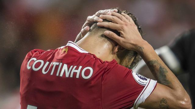 Coutinho pondera recusar-se a jogar na Liga dos Campeões pelo Liverpool