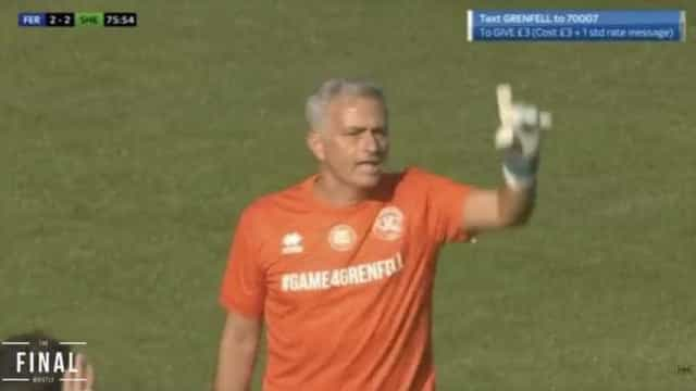 Estreia infeliz de Mourinho na baliza: Entrou aos 63', sofreu aos 76'