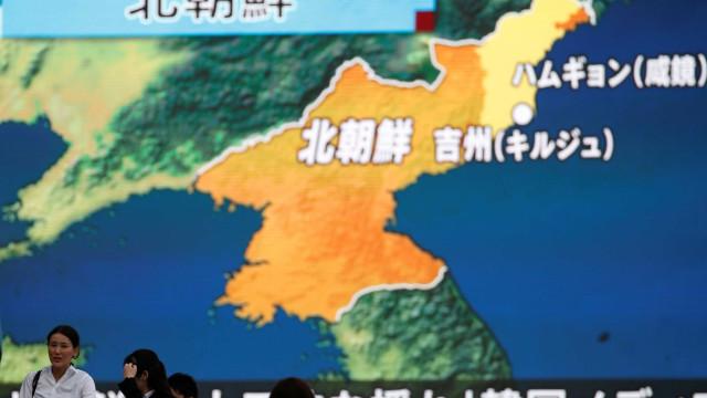 Coreia: Detetados sinais de preparativos para novo lançamento de míssil