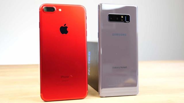 Galaxy Note 8 e iPhone 7 Plus em teste de velocidade. Veja o vídeo