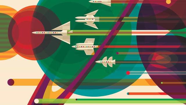 NASA celebra 40 anos das missões Voyager com posters de grande beleza