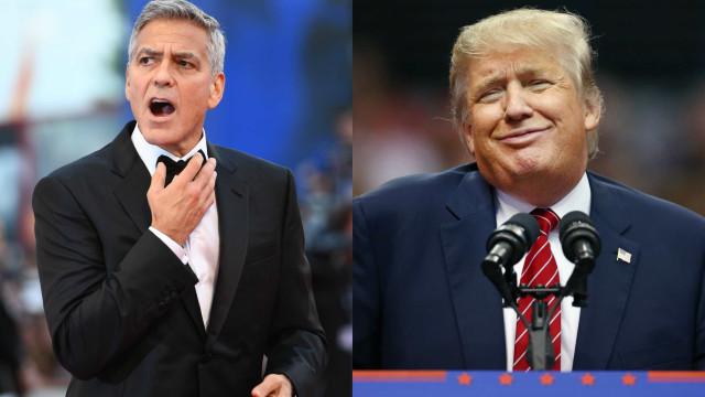 O primeiro (e único) encontro de Trump e Clooney foi no mínimo insólito