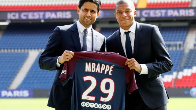 """PSG explicou negócio de Mbappé: """"Surpreendeu-me não falarem de dinheiro"""""""
