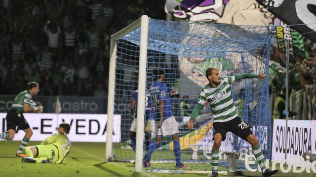 Bas Dost dá vitória (muito suada) ao Sporting com golo aos 90+8'