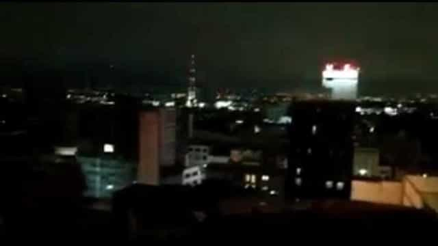 México: As luzes que se viram no céu durante o sismo não são relâmpagos
