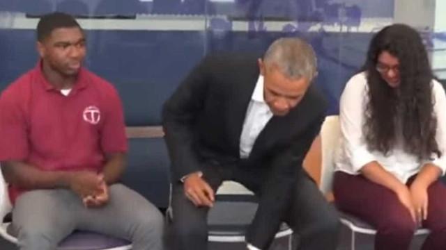 Era um primeiro dia de aulas normal até Barack Obama ter entrado na sala