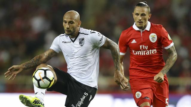 Taça da Liga: Rui Vitória chama Fejsa e Jardel para a receção ao Braga