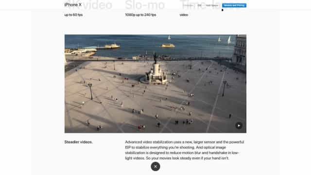 Site da Apple mostra o Terreiro do Paço visto pelas lentes do iPhone X