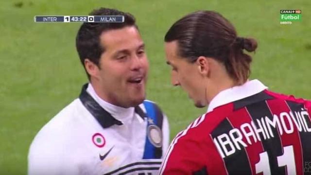 O momento em que Júlio César tentou que Ibrahimovic falhasse um penálti