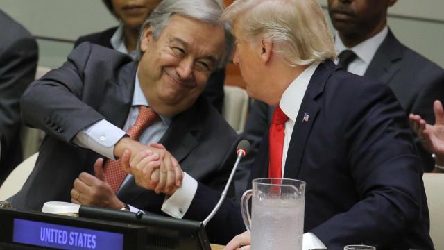 """Trump elogia Guterres, afirmando que tem feito um trabalho """"espetacular"""""""