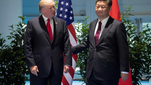 """Trump e Xi Jinping querem """"aumento da pressão"""" sobre Pyongyang"""