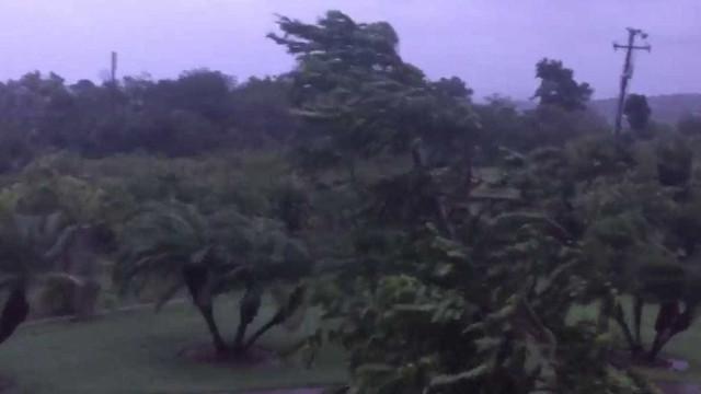 Assim sopram os ventos antes da chegada do furacão Maria