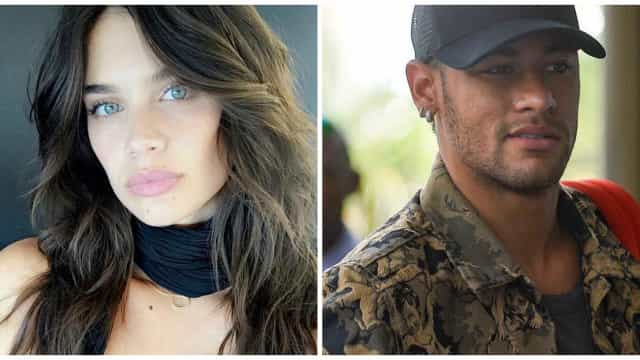 Sara Sampaio cúmplice de Neymar e Lewis Hamilton em noite de festa