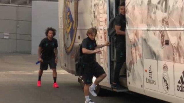 """""""Bale, onde está a pontualidade britânica?"""", perguntam Modric e Marcelo"""