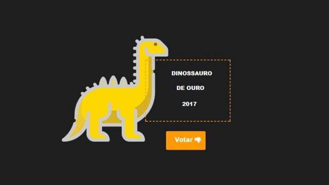 Já votou no Dinossauro de Ouro? Tem até dia 29 de setembro