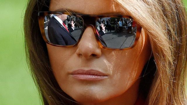 Look de Melania Trump criticado nas redes sociais
