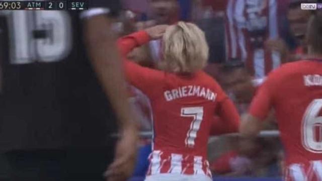 O golo de Griezmann que deixou o Wanda Metropolitano ao rubro