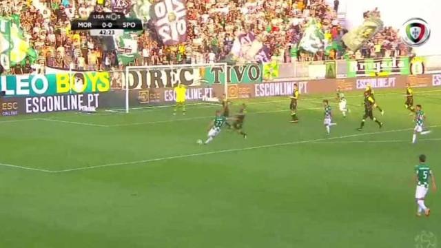 Rafael Costa inaugurou o marcador do Moreirense-Sporting com grande golo