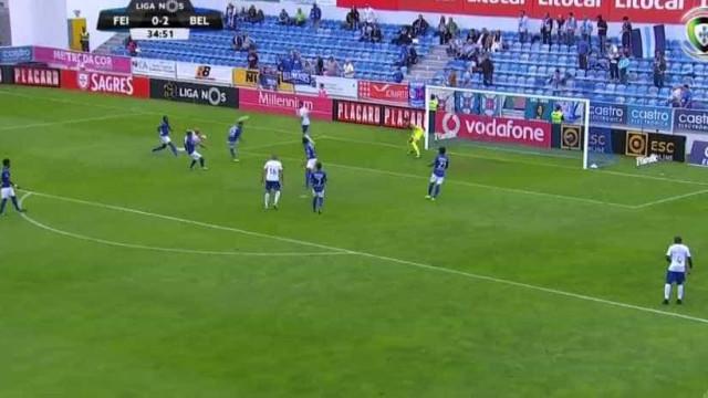 O estupendo golo de André Sousa no Feirense-Belenenses