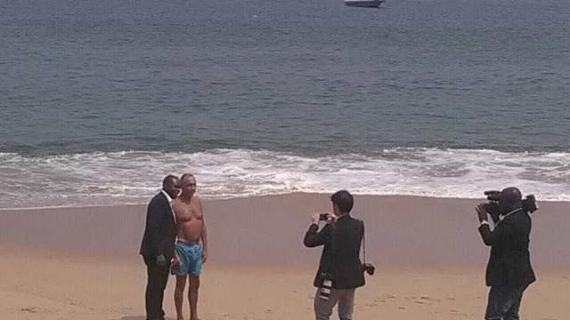 Marcelo Rebelo de Sousa deixa Luanda como 'Ti Celito'
