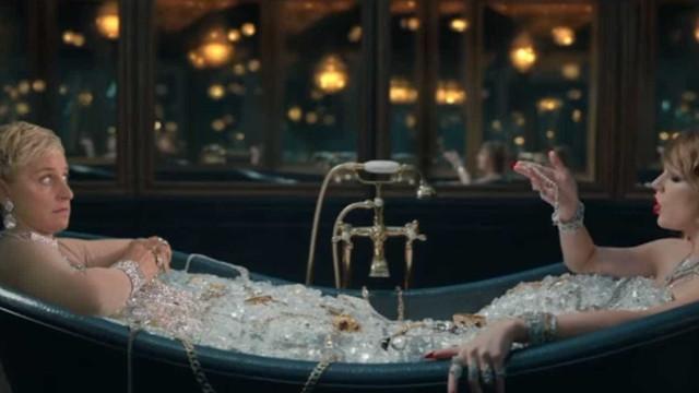 Ellen DeGeneres faz paródia com videoclipe de Taylor Swift