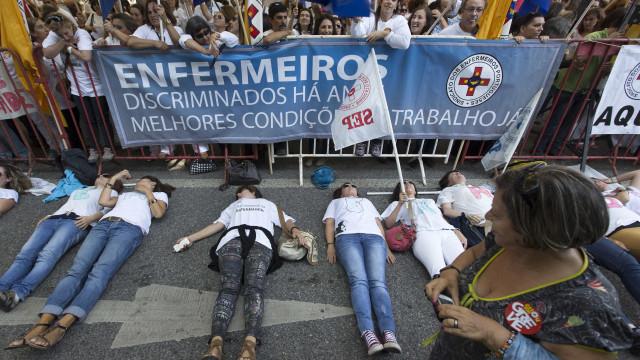 Enfermeiros agendam 5 concentrações para arranque da greve prolongada