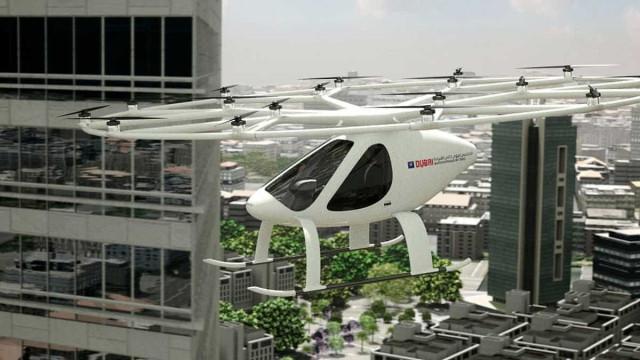 Táxi voador autónomo foi testado com sucesso no Dubai