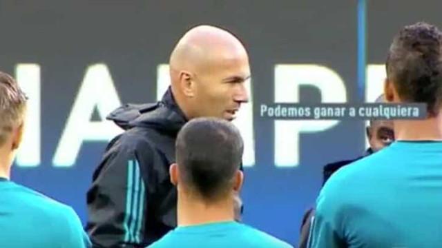 """O discurso motivacional de Zidane: """"Podemos ganhar a qualquer equipa"""""""