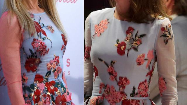 Rainha Letizia e Nicole Kidman com look idêntico em diferentes ocasiões