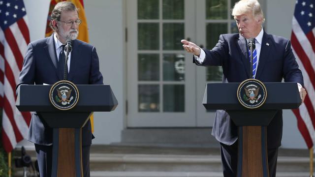 Trump refere-se (mais do que uma vez) a Rajoy como presidente de Espanha