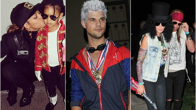 Halloween: Estes famosos mascararam-se de... outros famosos