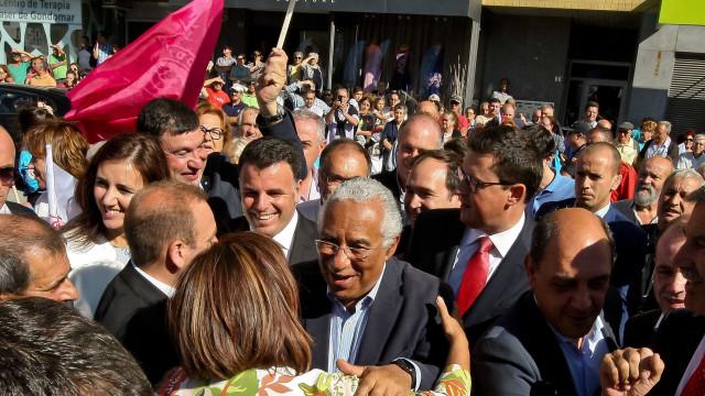 """Costa pede voto no PS, que trouxe uma """"lufada de ar fresco"""" ao país"""