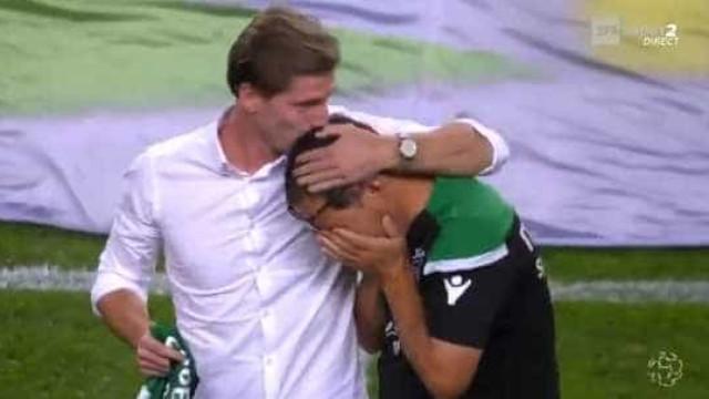 Adrien não conteve as lágrimas durante a homenagem do Sporting