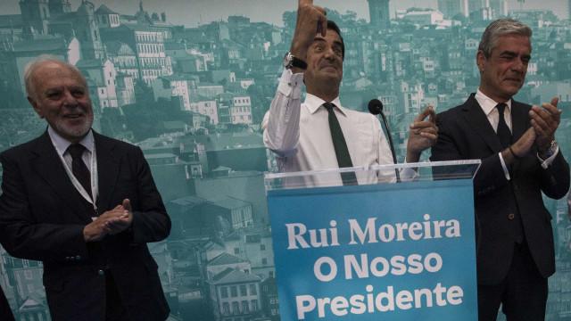 Na hora da vitória, Moreira deixa críticas a PS e PSD e revela derrotados
