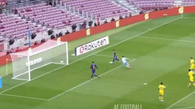 O que Messi fez ao guarda-redes do Las Palmas é incrível